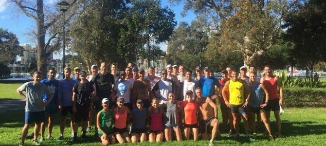 Double Pain – 10x400s plus 3km tempo. Rushcutters